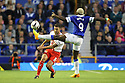 Jon Ashton of Stevenage clears from Arouna Kone of Everton<br />  - Everton v Stevenage - Capital One Cup Second Round - Goodison Park, Liverpool - 28th August, 2013<br />  © Kevin Coleman 2013