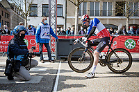 French Champion Arnaud Démare (FRA/Groupama - FDJ) on the start line<br /> <br /> 45th Oxyclean Classic Brugge-De Panne 2021 (ME/1.UWT)<br /> 1 day race from Bruges to De Panne (204km)<br /> <br /> ©kramon