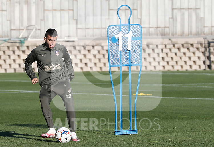 Atletico de Madrid's Angel Correa during training session. October 8,2020.(ALTERPHOTOS/Atletico de Madrid/Pool)