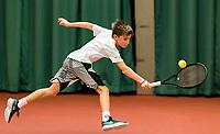 Wateringen, The Netherlands, March 9, 2018,  De Rijenhof , NOJK 12/16 years, Manvydas Baldunas (NED)<br /> Photo: www.tennisimages.com/Henk Koster