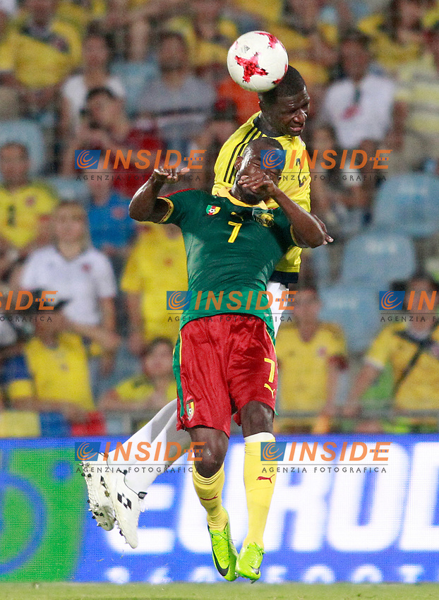 Colombia's Cristian Eduardo Zapata (r) and Cameroon's Nicolas Ngamaleu during international friendly match. June 13,2017.(ALTERPHOTOS/Acero/Insidefoto)<br /> Camerun - Colombia <br /> Foto Acero/Alterphotos/Insidefoto <br /> ITALY ONLY