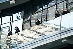 21.11.2020, PreZero-Arena, Sinsheim, GER, 1.FBL, TSG 1899 Hoffenheim vs VfB Stuttgart , <br />DFL  regulations prohibit any use of photographs as image sequences and/or quasi-video.<br />im Bild<br />Geschäftsführer Dr. Peter Görlich (Hoffenheim), Leiter Scouting Bastian Huber (Hoffenheim), Geschäftsführer Frank Briel (Hoffenheim), Geschäftsführer Denni Strich (Hoffenheim), <br />Direktor Profifußball Alexander Rosen (Hoffenheim)<br /> <br /> Foto © nordphoto / Bratic