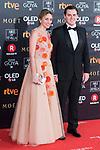Beatriz Tajuelo and Alberto Rivera attends red carpet of Goya Cinema Awards 2018 at Madrid Marriott Auditorium in Madrid , Spain. February 03, 2018. (ALTERPHOTOS/Borja B.Hojas)