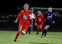 Sheila Broos (20) of Woluwe in action during a female soccer game between FC Femina White Star Woluwe and Club Brugge YLA on the eleventh matchday of the 2020 - 2021 season of Belgian Scooore Womens Super League , Friday 22 January 2021  in Woluwe , Belgium . PHOTO SPORTPIX.BE   SPP   SEVIL OKTEM