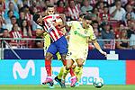 Atletico de Madrid's Thomas Lemar (l) and Getafe CF's Faycal Fajr during La Liga match. August 18,2019. (ALTERPHOTOS/Acero)