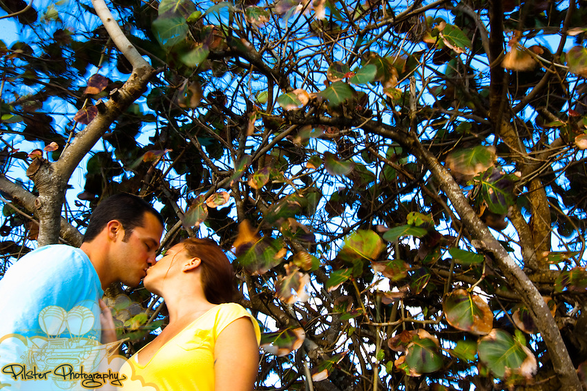 Kelly Miniclier and Steve Vallante during their e-session on Monday, March 29, 2010, in Indian Harbour Beach, Florida. They also went to Melbourne Beach. Their wedding is on November 6, 2010 in Orlando. (Chad Pilster, http://www.PilsterPhotography.net.)