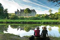 France, Côtes-d'Armor (22), vallée du Blavet, Saint-Gelven, abbaye cistercienne de Bon-Repos // France, Cotes d'Armor, Blavet Valley, St. Gelven, cistercian abbey of Bon Repos