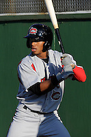 Third baseman Francisco Lindor (12) of the Carolina Mudcats before a game against the Potomac Nationals on Friday, June 21, 2013, at G. Richard Pfitzner Stadium in Woodbridge, Virginia. Lindor was taken by the Cleveland Indians in the first round of the 2011 First-Year Player Draft and is the Indians' No. 1 prospect. Potomac won, 5-1. (Tom Priddy/Four Seam Images)