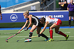 Glasgow 2014 Commonwealth Games<br /> Wales v England<br /> Glasgow National Hockey Centre<br /> <br /> 24.07.14<br /> ©Steve Pope-SPORTINGWALES