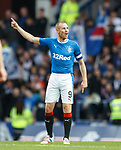 Kenny Miller holding his team talk on the pitch at the start of the second half