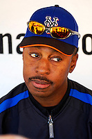 11 April 2006: Willie Randolph, Manager of the New York Mets, in the dugout prior to the Washington Nationals' Home Opener at RFK Stadium, in Washington, DC. The Mets defeated the Nationals 7-1 to maintain their lead in the NL East...Mandatory Photo Credit: Ed Wolfstein Photo..