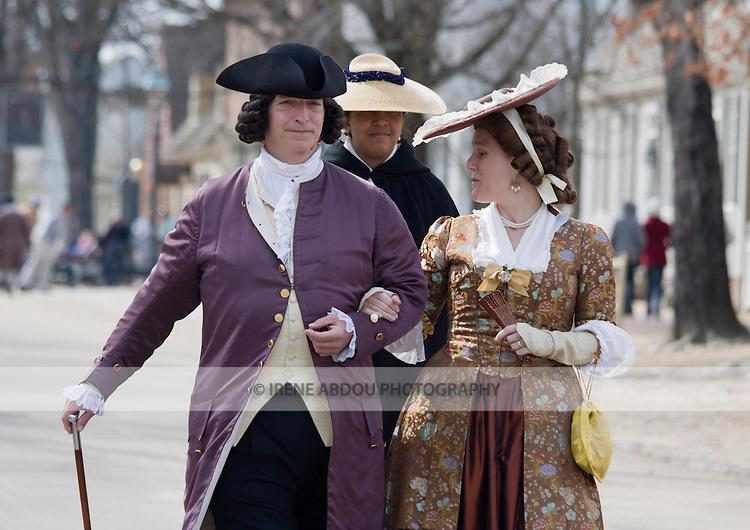 Period actors at Colonial Williamsburg, Virginia.