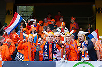 Guimaraes, Portugal - Thursday, June 6, 2019: Netherlands  fans getting ready for the match at D. Afonso Henriques Stadium in Guimaraes.