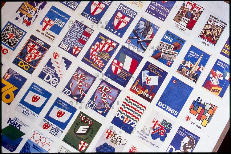 manifesto tessere Democrazia Cristiana 1944-1990