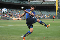 Erik Pimentel misaims on the kick. Manchester City defeated Club America 2-0 in the Herbalife World Football Challenge 2011 at AT&T Park in San Francisco, California on July 16th, 2011.