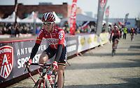 local boy Gert Dockx (BEL/Lotto-Soudal) to the start<br /> <br /> 103rd Scheldeprijs 2015