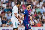 Luis Suarez (r) of FC Barcelona holds the hand of Raphael Varane of Real Madrid during their Supercopa de Espana Final 2nd Leg match between Real Madrid and FC Barcelona at the Estadio Santiago Bernabeu on 16 August 2017 in Madrid, Spain. Photo by Diego Gonzalez Souto / Power Sport Images