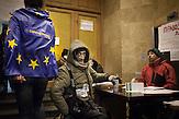 Pro EU Demonstrationen in Kiew, Besetzung City Hall Rathaus, 04.12.2013 /  Pro European demonstrations in Kiev