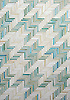 Houndstooth, a handmade mosaic shown in Aquamarine and Quartz jewel glass.