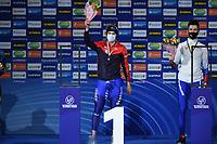 SPEEDSKATING: HEERENVEEN: 30-01-2021, IJsstadion Thialf, ISU World Cup II, 1500m Men Division B, Allan Dahl Johansson (NOR), Daniil Aldoshkin (RUS), ©photo Martin de Jong