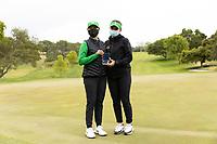 STANFORD, CA - APRIL 25: Hsin-Yu Lu, Briana Chacon at Stanford Golf Course on April 25, 2021 in Stanford, California.