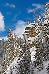 Rock hoodoo in Lolo National Forest below Lolo Pass on the Montana - Idaho border