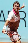 Stan Wawrinka, Switzerland, during Madrid Open Tennis 2015 match.May, 7, 2015.(ALTERPHOTOS/Acero)