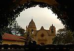 Carmel Mission at Dawn, Mission San Carlos Borromeo de Carmelo 1771, Carmel-by-the-Sea, California