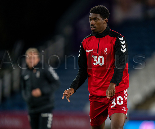 3rd November 2020, The John Smiths Stadium, Huddersfield, Yorkshire, England; English Football League Championship Football, Huddersfield Town versus Bristol City; Tyreeq Bakinson of Bristol City during warm up