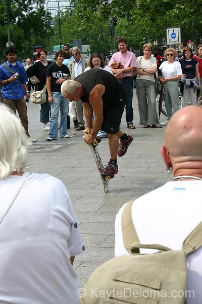 Street Performer in front of Gedaechtniskirche, Berlin, Germany