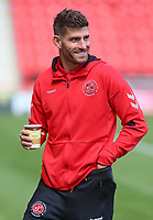 Fleetwood Town's Ched Evans is all smiles before kick off<br /> <br /> Photographer David Shipman/CameraSport<br /> <br /> The EFL Sky Bet League One - Doncaster Rovers v Fleetwood Town - Saturday 17th August 2019  - Keepmoat Stadium - Doncaster<br /> <br /> World Copyright © 2019 CameraSport. All rights reserved. 43 Linden Ave. Countesthorpe. Leicester. England. LE8 5PG - Tel: +44 (0) 116 277 4147 - admin@camerasport.com - www.camerasport.com