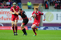 Rhys Patchell of Scarlets in action during the Guinness Pro14 Round 5 match between Scarlets and Isuzu Southern Kings at the Parc Y Scarlets in Llanelli, Wales, UK. Saturday 29 September 2018