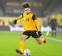 8th January 2021; Molineux Stadium, Wolverhampton, West Midlands, England; English FA Cup Football, Wolverhampton Wanderers versus Crystal Palace;  Rayan Ait Nouri of Wolverhampton Wanderers prepares to pass the ball forward