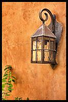 Lamp on adobe wall - Arizona