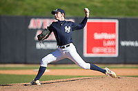 Michael Parsons (62) of Norfolk Academy in Norfolk, Virginia playing for the New York Yankees scout team at the South Atlantic Border Battle at Doak Field on November 2, 2014.  (Brian Westerholt/Four Seam Images)