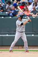 Tucker Nathans (6) of the Frederick Keys at bat against the Winston-Salem Dash at BB&T Ballpark on May 18, 2014 in Winston-Salem, North Carolina.  The Dash defeated the Keys 7-6.  (Brian Westerholt/Four Seam Images)