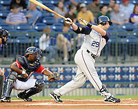 11 April 2008: Brandon Burgess of the Mobile BayBears, Class AA affiliate of the Arizona Diamondbacks, in a game against the Mississippi Braves at Trustmark Park in Pearl, Miss. Photo by:  Tom Priddy/Four Seam Images