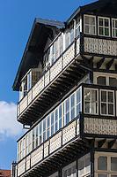 France, Aquitaine, Pyrénées-Atlantiques, Pays Basque, Biarritz: Villa  avec vérandas continues sur des balcons en bois, 16 avenue Victor Hugo  //  France, Pyrenees Atlantiques, Basque Country, Biarritz: Villa , 16 avenue Victor Hugo