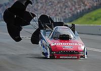 Jun. 19, 2011; Bristol, TN, USA: NHRA funny car driver Bob Tasca III during eliminations at the Thunder Valley Nationals at Bristol Dragway. Mandatory Credit: Mark J. Rebilas-
