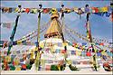 2006- Népal- Kathmandu, le grand temple de Bodhnath.