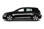 Car driver side profile view of a 2018 Volkswagen Golf GTI SE 5 Door Hatchback