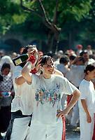 San Fermin, bei der  Eröffnung der Fiesta, Pamplona, Navarra, Spaniens