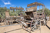 Death Valley, California.  Old Stage Coach at Furnace Creek Museum.
