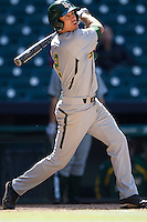 Baylor Bears first baseman Steve DalPorto #2 swings during the NCAA baseball game against the California Golden Bears on March 1st, 2013 at Minute Maid Park in Houston, Texas. Baylor defeated Cal 9-0. (Andrew Woolley/Four Seam Images).