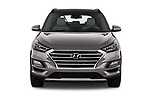 Car photography straight front view of a 2019 Hyundai Tucson Shine 5 Door SUV