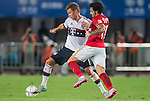 (L) Joshua Kimmich of Bayern Munich competes for the ball with (R) Ricardo Goulart of Guangzhou Evergrande during the Bayern Munich vs Guangzhou Evergrande as part of the Bayern Munich Asian Tour 2015  at the Tianhe Sport Centre on 23 July 2015 in Guangzhou, China. Photo by Aitor Alcalde / Power Sport Images