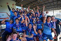 Levin COB celebrates winning the Horowhenua-Kapiti premier reserve club rugby union final between Levin College Old Boys and Foxton at Levin Domain in Levin, New Zealand on Saturday, 8 August 2020. Photo: Dave Lintott / lintottphoto.co.nz
