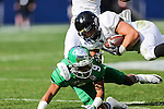 Army Black Knights running back Darnell Woolfolk (33) in action during the Zaxby's Heart of Dallas Bowl game between the Army Black Knights and the North Texas Mean Green at the Cotton Bowl Stadium in Dallas, Texas.