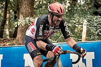 John Degenkolb (DEU/Lotto-Soudal) up the Kemmelberg<br /> <br /> 82nd Gent-Wevelgem in Flanders Fields 2020 (1.UWT)<br /> 1 day race from Ieper to Wevelgem (232km)<br /> <br /> ©kramon