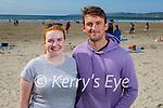 Enjoying the afternoon on Banna beach on Sunday, l to r: Doreen Moynihan and Tom O'Hara.